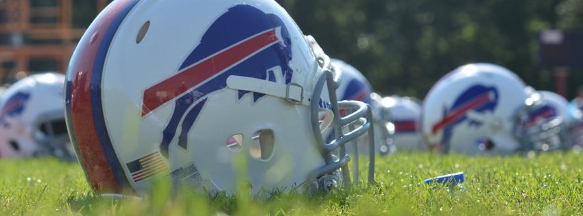 Helmets in Grass facebook cover