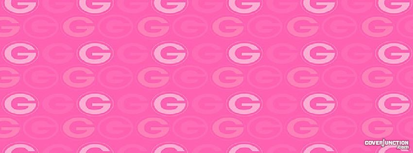 Pink Green Bay Packers Logos facebook cover