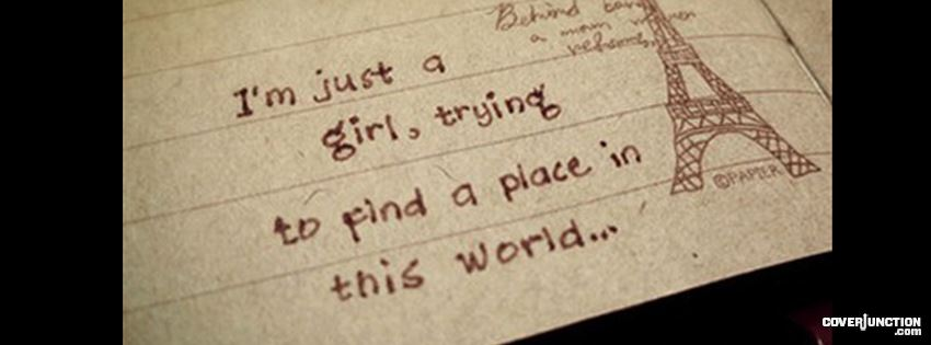 A place in this world Facebook Cover