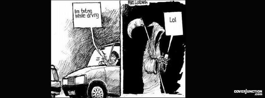 Grim Reaper funny Facebook Cover