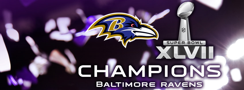 Baltimore Ravens 2012: Super Bowl XLVII Champions Facebook Cover