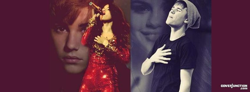 JUSTIN BIEBER AND SELENA GOMEZ Facebook Cover