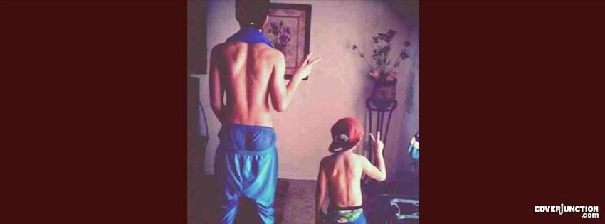 JUSTIN BIEBER AND JAXON BIEBER Facebook Cover