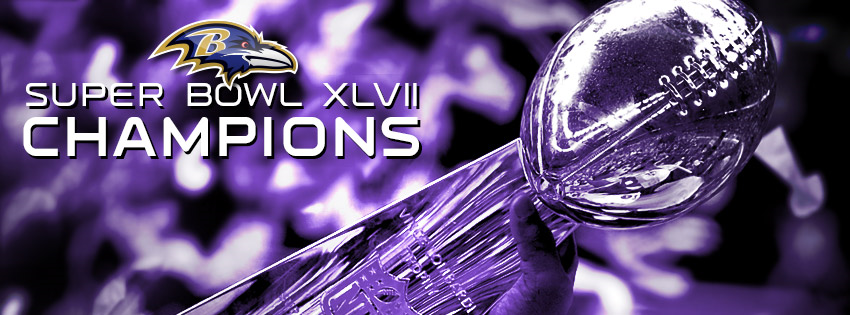 Baltimore Ravens 2012: Super Bowl XLVII Champions Lombardi Trophy Facebook Cover