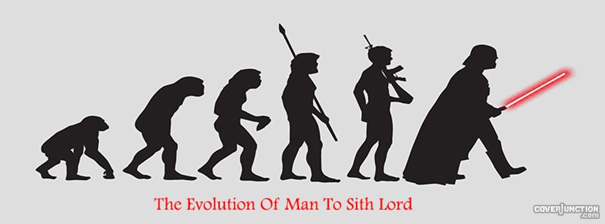 Evolution Of Man To Sith Lord - 2 facebook cover