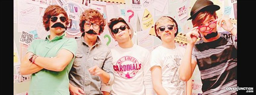 Mustache One direction Facebook Cover