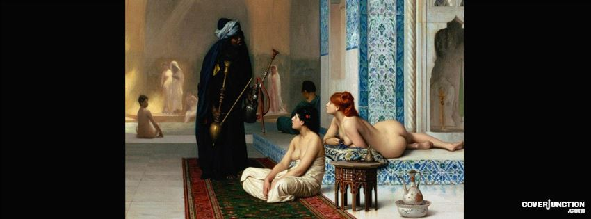 BELLE EPOQUE EUROPE on FB - Jean-Léon GERÔME Pool in a Harem 1876 facebook cover