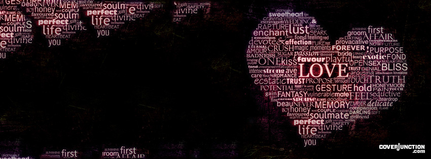 Words of Love Facebook Cover - CoverJunction