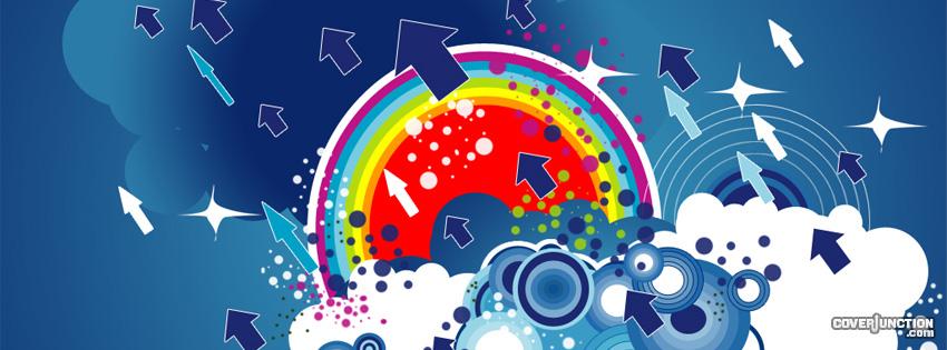 Rainbow Arrows facebook cover