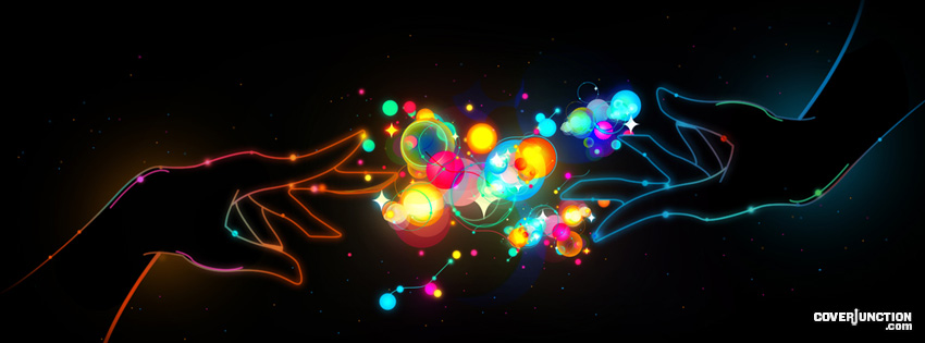 Colorful Connection Magic Hands     Facebook Cover By Andrew G