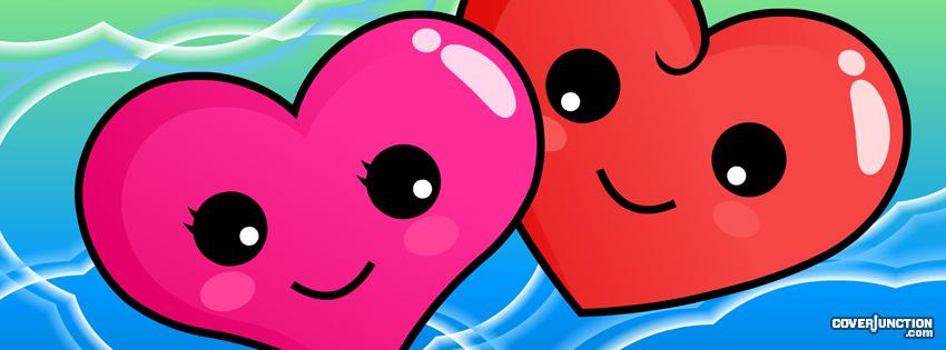 Cute Hearts facebook cover