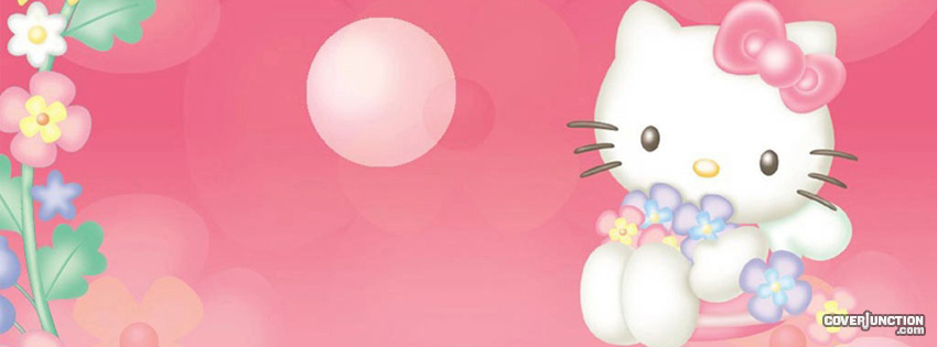 Hello Kitty Wave Facebook Cover - CoverJunction