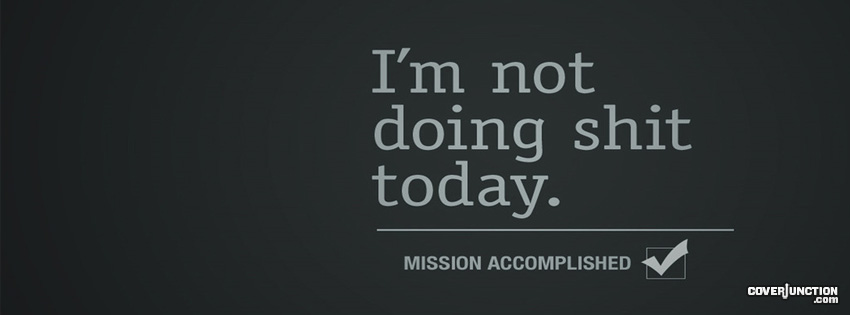 Procrastination Facebook Cover - CoverJunction