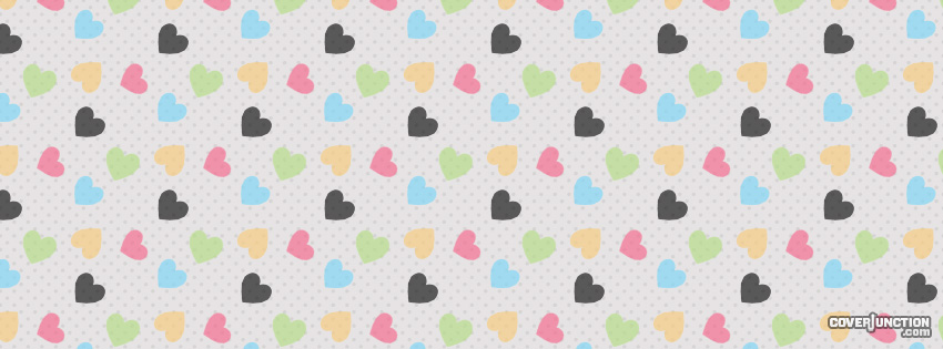 Heart Pattern Facebook Cover - CoverJunction