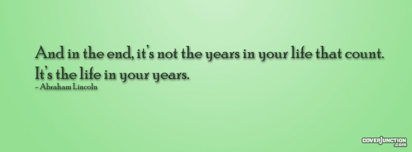 Life and Years facebook cover