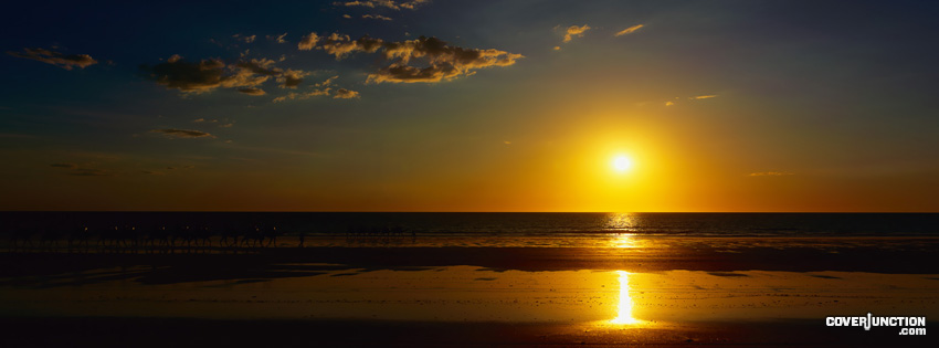 Sunset Beach Facebook Cover - CoverJunction