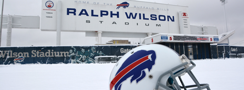 Ralph Wilson Stadium in Snow Facebook Cover