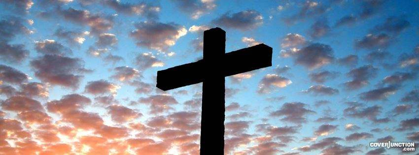 Easter Holy Cross - Jesus Saviour Has Risen facebook cover