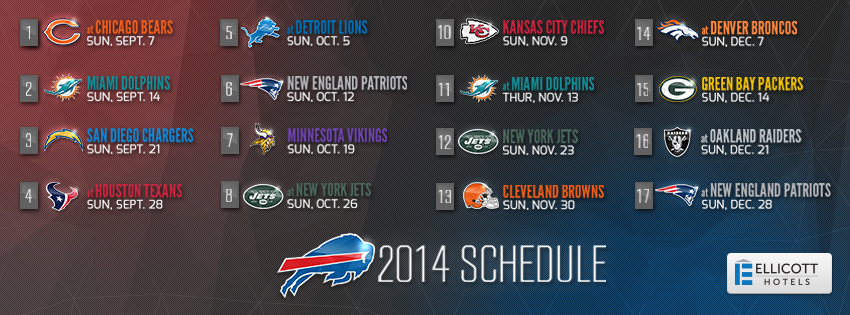 2014 Buffalo Bills Schedule facebook cover