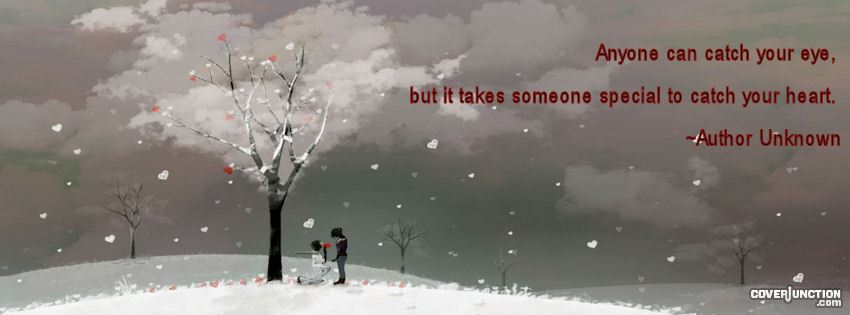 Someone special to catch your heart...love facebook cover