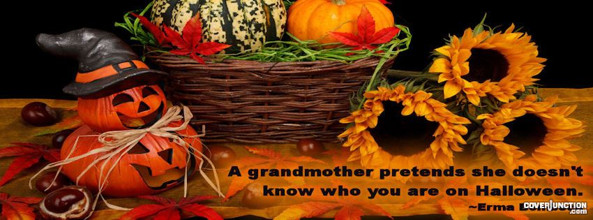 Halloween and Fall  A Grandmother pretends she doesn't know you facebook cover
