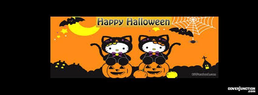 Halloween kitty facebook cover