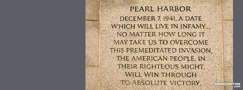 Pearl Harbor Day facebook cover
