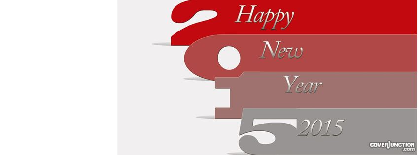 Happy New Year 2015 facebook cover