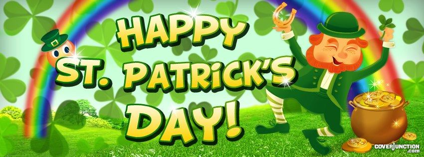 Happy St. Patricks Day facebook cover