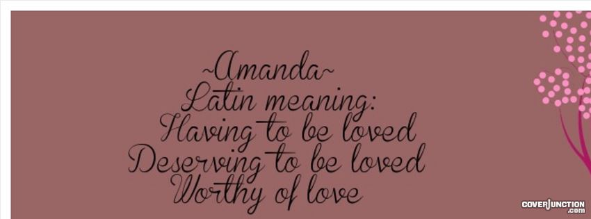 Amanda facebook cover