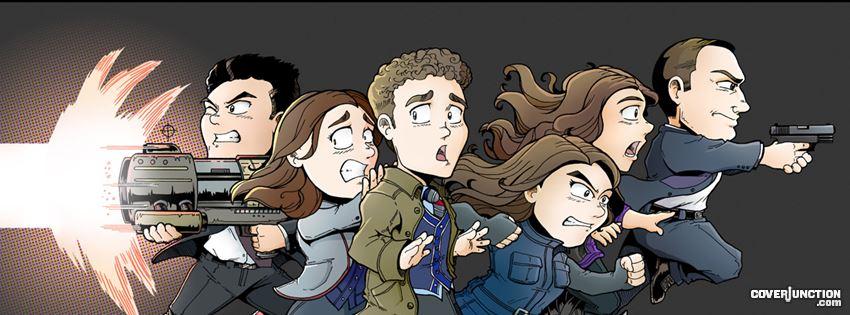 Agents of S.H.I.E.L.D. Chibis facebook cover