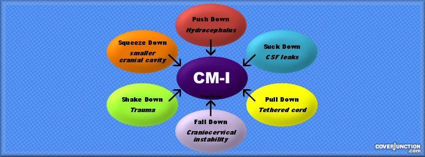 Chiari Malformation - Diagram Blue facebook cover