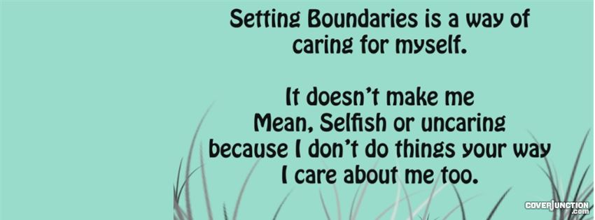 Boundaries quote - psychology and self-care facebook cover
