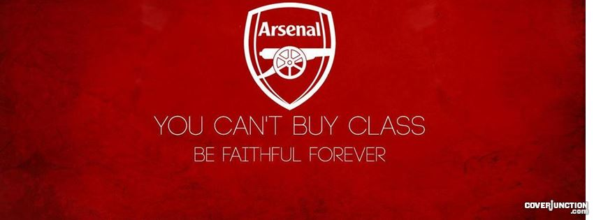 Arsenal - You Can't Buy Class facebook cover