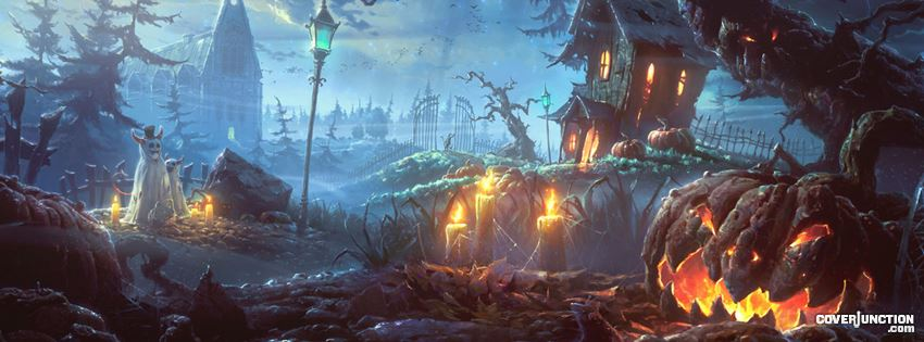 Spooky House on the Hill facebook cover