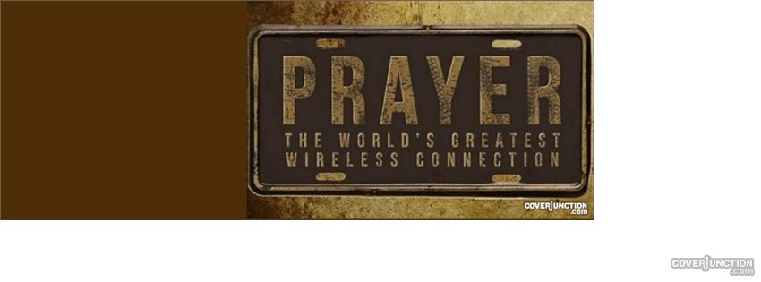 Prayer wireless connection facebook cover